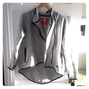 Nike hi lo gray hooded jacket M